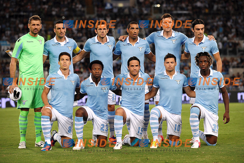 Lazio Team.Roma 30/08/2012 Stadio Olimpico.Football Calcio 2012/2013 Europa League.Lazio Vs Mura 05.Foto Insidefoto Andrea Staccioli