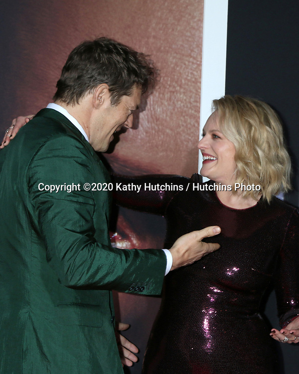 """LOS ANGELES - FEB 24:  Jason Blum and Elisabeth Moss at the """"The Invisible Man"""" Premiere at the TCL Chinese Theater IMAX on February 24, 2020 in Los Angeles, CA"""