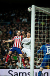 Santiago Bernabeu. Madrid. Spain. 05.02.2014. Football match between Real Madrid and Atletico de Madrid. Juanfran. Cristiano Ronaldo.