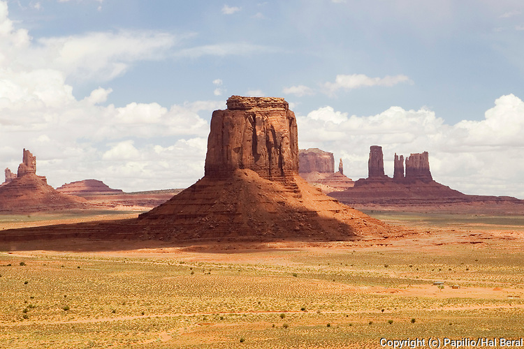 Overview of Monument Valley from Artist Point.Monument Valley, Utah-Arizona..