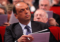 Il Ministro dell'Interno e viceprimo ministro Angelino Alfano all'Assemblea annuale di Confindustria a Roma, 23 maggio 2013..Interior Minister and Deputy Premier Angelino Alfano attends the Italian Confindustria industrialists association's annual assembly in Rome, 23 May 2013..UPDATE IMAGES PRESS/Riccardo De Luca