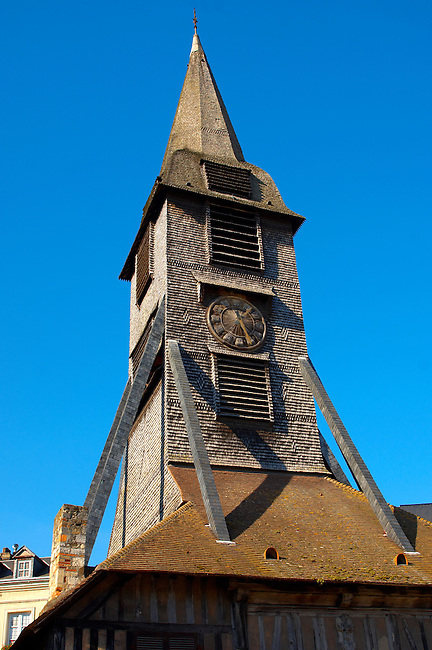Wooden Church of St Terezza - Market Square HonfleurNormandy France