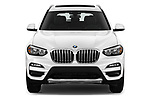Car photography straight front view of a 2019 BMW X3 Base 5 Door SUV