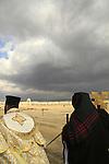 Jordan Valley, Jordan Valley, Ethiopian Orthodox monks in Qasr al Yahud on the Feast of Theophany