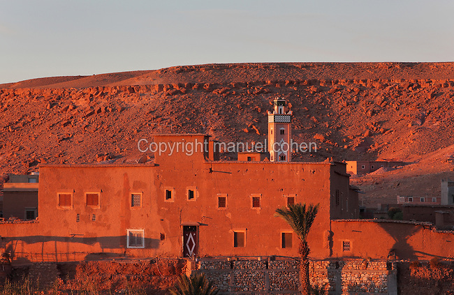 New village of Ait Bet Haddou, Ounila Valley,  Ouarzazate province, Morocco. This village stands across the Oued Marghan river from the original ksar of Ait Ben Haddou, where only a few families remain. Picture by Manuel Cohen