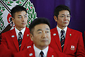 (L-R) Eita Mori,  Seiji Mizobe, Toshikazu Yamashita (JPN), JULY 19, 2016 - Shooting - Rifle : Japan Shooting team member attends a press conference in Tokyo, Japan. Japan Shooting Rifle Association has announced the Japan National team for 2016 Rio de Janeiro Summer Olympics and Paralympics. (Photo by Yusuke Nakanishi/AFLO SPORT)