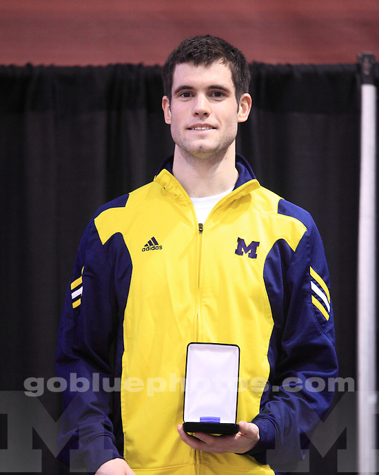 The University of Michigan men's track and field team finished in tenth place at the 2012 Big Ten Indoor Championships in Iowa City, Iowa, on February 25, 2012.