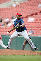 July 20th 2008:  Pitcher Jorge Julio of the Richmond Braves, Class-AAA affiliate of the Atlanta Braves, during a game at Dunn Tire Park in Buffalo, NY.  Photo by:  Mike Janes/Four Seam Images