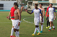 St. Vincent and the Grenadines - September 2, 2016: The U.S. Men's National team defeat St. Vincent and the Grenadines 6-0 in a World Cup Qualifier (WCQ) match at Arnos Vale Stadium.