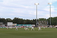 Play resumes under the floodlights for the late evening session during Essex CCC vs Middlesex CCC, Specsavers County Championship Division 1 Cricket at The Cloudfm County Ground on 26th June 2017