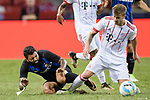 FC Internazionale Forward Gabriel Barbosa (L) trips up with Bayern Munich Midfielder Niklas Dorsch (R) during the International Champions Cup match between FC Bayern and FC Internazionale at National Stadium on July 27, 2017 in Singapore. Photo by Weixiang Lim / Power Sport Images
