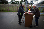 A half-time draw seller with early arrivals at Galabank prior to the Annan Athletic versus Edinburgh City match. The match ended in a 1-1 draw, watched by 351 spectators. City were still without a League win in the new season.