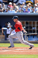 Outfielder Alex Presley (1) of the Minnesota Twins during a spring training game against the Tampa Bay Rays on March 2, 2014 at Charlotte Sports Park in Port Charlotte, Florida.  Tampa Bay defeated Minnesota 6-3.  (Mike Janes/Four Seam Images)
