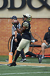 Wake Forest Demon Deacons wide receiver Isaiah Isaac (21) warms-up prior to the game against the Rice Owls at BB&T Field on September 29, 2018 in Winston-Salem, North Carolina. The Demon Deacons defeated the Owls 56-24. (Brian Westerholt/Sports On Film)