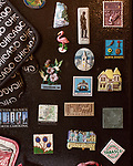 March 21, 2018. Tarboro, North Carolina.<br /> <br /> Peveler has collected magnets from places she has traveled to over the years. <br /> <br /> Sarah Peveler moved to Tarboro 10 years ago after she retired. Living alone, she uses a network of friends and social groups, as well as phone applications such as EyeOn,  to maintain connections and make sure she is checked in on periodically.