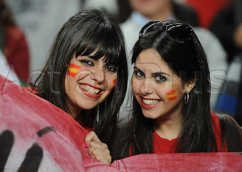 18.11.2010 Portugal gained a measure of revenge for their World Cup exit at the hands of Spain by inflicting a heavy defeat on their Iberian neighbours in tonight's friendly in Lisbon. Carl Martins Celebrates Goal for Portugal. Picture shows supporters of Spain.