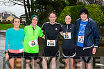 Carol Fink, Declan Guina, Cathal McDonagh, Julie and Andrew Purcell Listowel who ran in the Beaufort 10k on New Years day