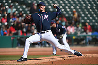NWA Democrat-Gazette/J.T. WAMPLER Naturals' Foster Griffin pitches against San Antonio Tuesday April 10, 2018 at Arvest Ballpark in Springdale. The Naturals won 4-0.