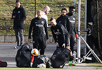Sebastian Rode (Eintracht Frankfurt), Marc Stendera (Eintracht Frankfurt), Danny da Costa (Eintracht Frankfurt) - 20.02.2019: Eintracht Frankfurt Training, UEFA Europa League, Commerzbank Arena, DISCLAIMER: DFL regulations prohibit any use of photographs as image sequences and/or quasi-video.