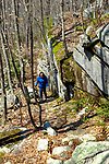 Karen hikes on the Escoheag Trail, Arcadia Mgt. Area, Exeter, RI on Sunday, April 19, 2020.