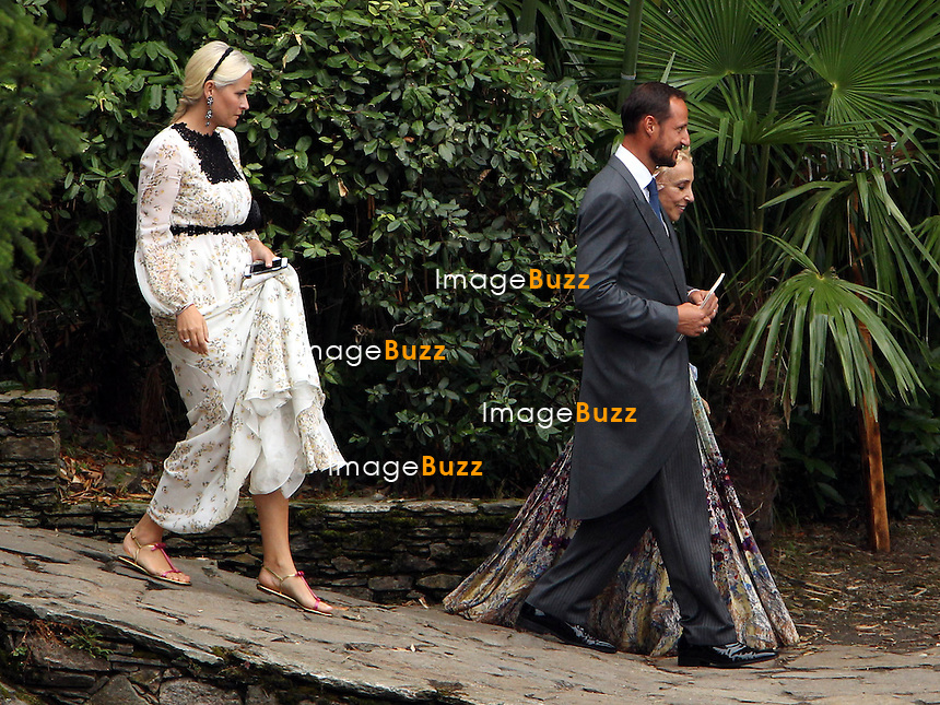 Arrival of the guests of the marriage of Pierre and B&eacute;atrice<br /> <br /> Princesse Mette-Marit de Norvege;Prince Haakon de Norv&egrave;ge;Franca Sozzani