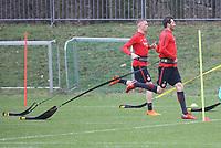 David Abraham (Eintracht Frankfurt), Marius Wolf (Eintracht Frankfurt) - 04.04.2018: Eintracht Frankfurt Training, Commerzbank Arena