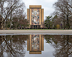 March 24, 2020; Word of Life Mural on Hesburgh Library (Photo by Matt Cashore/University of Notre Dame)