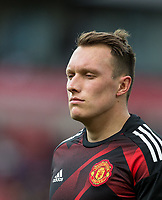 Phil Jones of Man Utd ahead of the Premier League match between Stoke City and Manchester United at the Britannia Stadium, Stoke-on-Trent, England on 9 September 2017. Photo by Andy Rowland.