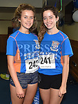Tara and Niamh McGuinness who took part in the Seamie Weldon memorial run at St. Mary's GAA club Ardee. Photo:Colin Bell/pressphotos.ie