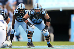 23 November 2013: UNC's James Hurst. The University of North Carolina Tar Heels played the Old Dominion University Monarchs at Keenan Stadium in Chapel Hill, NC in a 2013 NCAA Division I Football game. UNC won the game 80-20.