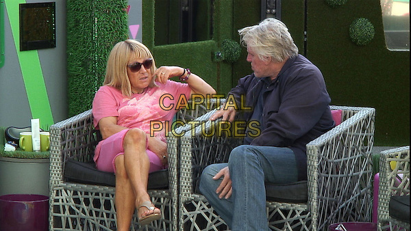 Kellie Maloney	&amp; Gary Busey<br /> in Celebrity Big Brother - Summer 2014 (Day 14)<br /> *Editorial Use Only*<br /> CAP/NFS<br /> Image supplied by Capital Pictures