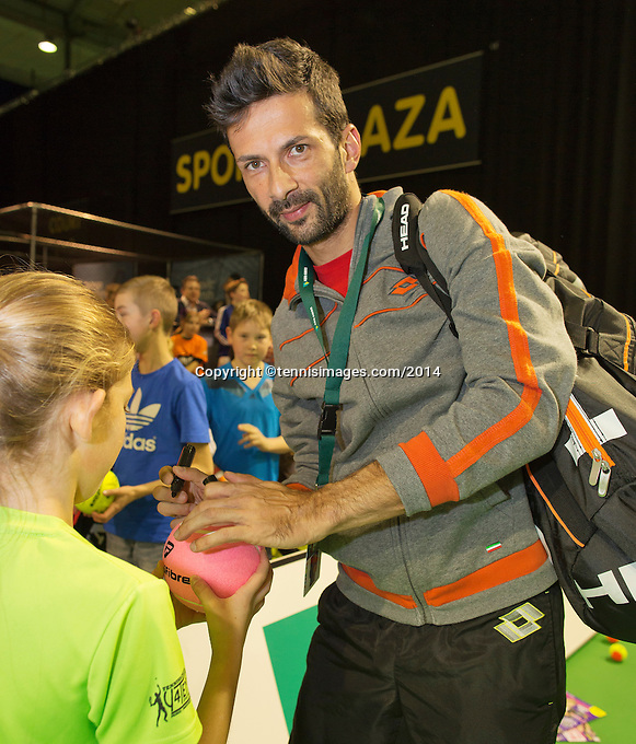 12-02-14, Netherlands,Rotterdam,Ahoy, ABNAMROWTT, Julian Knowle<br /> Photo:Tennisimages/Henk Koster