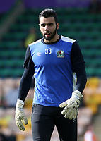 Blackburn Rovers' David Raya during the pre-match warm-up <br /> <br /> Photographer David Shipman/CameraSport<br /> <br /> The EFL Sky Bet Championship - Norwich City v Blackburn Rovers - Saturday 11th March 2017 - Carrow Road - Norwich<br /> <br /> World Copyright &copy; 2017 CameraSport. All rights reserved. 43 Linden Ave. Countesthorpe. Leicester. England. LE8 5PG - Tel: +44 (0) 116 277 4147 - admin@camerasport.com - www.camerasport.com