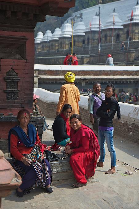 The Shambhu Nath Hindu Cremation Area, Kathmandu Nepal