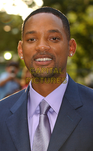WILL SMITH.Attending the I, Robot Premiere, Odeon Leicester Square, London..August 4th, 2004.headshot, portrait, earrings, piercing, goatee, facial hair.www.capitalpictures.com.sales@capitalpictures.com.© Capital Pictures.