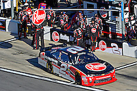 19-20 February, 2016, Daytona Beach, Florida USA<br /> Austin Dillon Finishes  a pit stop.<br /> ©2016, F. Peirce Williams