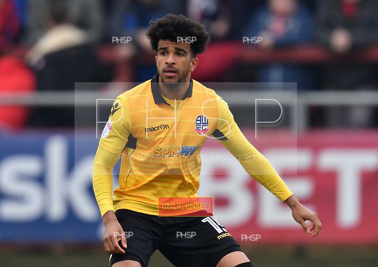 11/03/2017 Sky Bet League 1 Fleetwood Town v Bolton Wanderers<br /> <br /> Derik Osede, Bolton Wanderers FC
