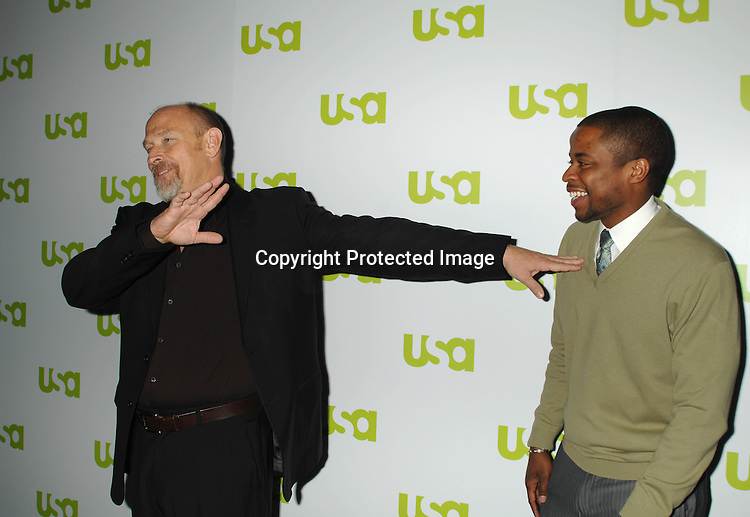 Corbin Bernsen and Dule Hill..at The USA Network Upfront on March 28, 2007 ..at The Modern in New York. ..Robin Platzer, Twin Images