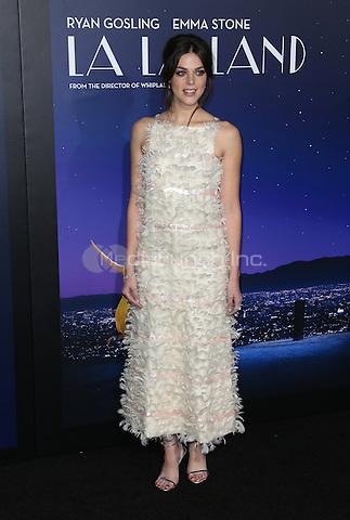 "Westwood, CA - DECEMBER 06: Callie Hernandez, At Premiere Of Lionsgate's ""La La Land"" At Mann Village Theatre, California on December 06, 2016. Credit: Faye Sadou/MediaPunch"