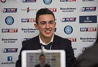 Luke O'Nien of Wycombe Wanderers gives a post match interview during the Sky Bet League 2 match between Wycombe Wanderers and Bristol Rovers at Adams Park, High Wycombe, England on 27 February 2016. Photo by Andy Rowland.