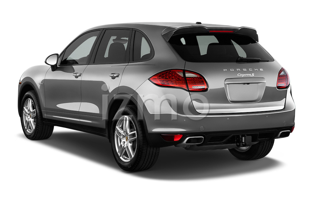 Rear three quarter view of a 2014 Porsche Cayenne Hybrid S 5 Door SUV