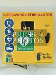 The new Defibrillator at Shallon, near Julianstown, County Meath. Photo:Colin Bell/pressphotos.ie