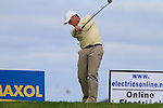 David Higgins tees off on the 13th tee during Day 3 of the 100th Irish PGA championship at Seapoint Golf Club, Co Louth...Picture Eoin Clarke/www.golffile.ie.