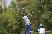 Aaron Rai (ENG) on the 4th during Round 1 of the Omega Dubai Desert Classic, Emirates Golf Club, Dubai,  United Arab Emirates. 24/01/2019<br /> Picture: Golffile | Thos Caffrey<br /> <br /> <br /> All photo usage must carry mandatory copyright credit (&copy; Golffile | Thos Caffrey)