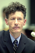 """Lyle Lovett, American Society of Composers, Authors and Publishers testifies before the United States House Subcommittee on Courts, The Internet and Intellectual Property oversight hearing on """"Music on the Internet""""in Washington, DC on May 17, 2001.....Credit: Ron Sachs / CNP..."""