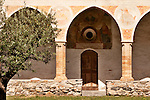 Courtyard in the Santa Maria delle Grazie Church in Gravedona, a town on Lake Como Italy