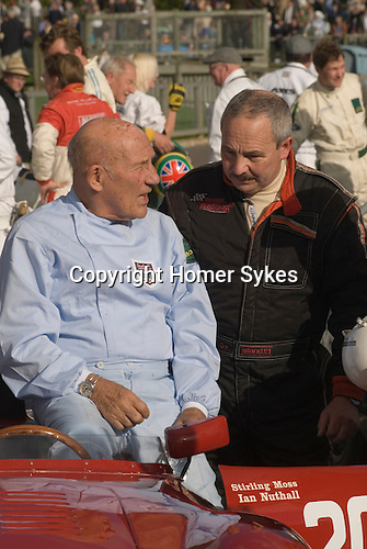 Goodwood Festival of Speed. Goodwood Sussex UK. Sterling Moss and Ian Nuthall