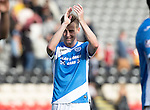 Partick Thistle v St Johnstone&hellip;10.09.16..  Firhill  SPFL<br />Steven MacLean applauds the fans at full time<br />Picture by Graeme Hart.<br />Copyright Perthshire Picture Agency<br />Tel: 01738 623350  Mobile: 07990 594431