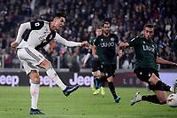 Cristiano Ronaldo of Juventus scores the goal of 1-0 for his side <br /> Torino 19/10/2019 Allianz Stadium <br /> Football Serie A 2019/2020 <br /> Juventus FC - Bologna <br /> Photo Federico Tardito / Insidefoto