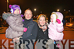 Pictured at the Aquadome fireworks on New Year's Eve were l-r: Holly Leen, Danny Leen Jnr, Claire Leen and Taylor Kate Leen (Tralee).